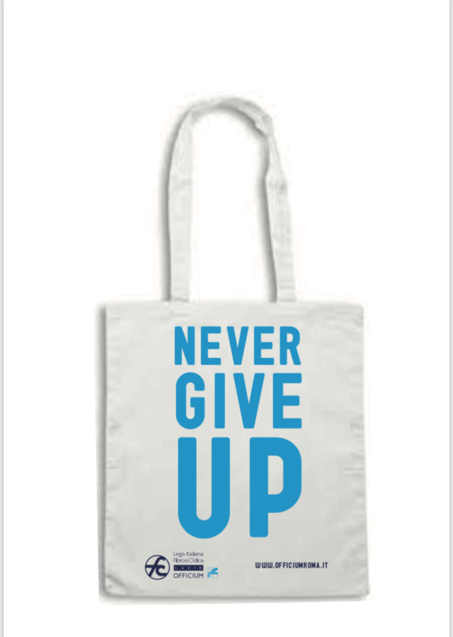 "Shopper e Borraccia ""Never Give Up"""